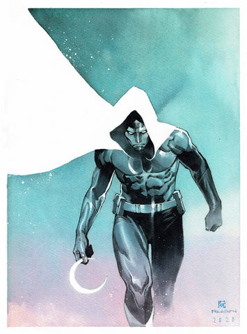 Dike Ruan Original Art Moon Knight Illustration