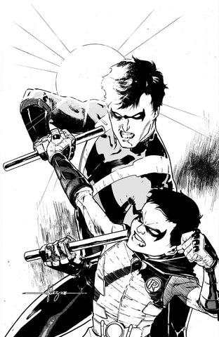 Javier Fernandez Original Art Nightwing #16 Cover
