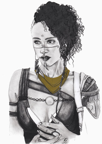 Ingrid Gala Original Art Nathalie Emmanuele Steampunk Illustration