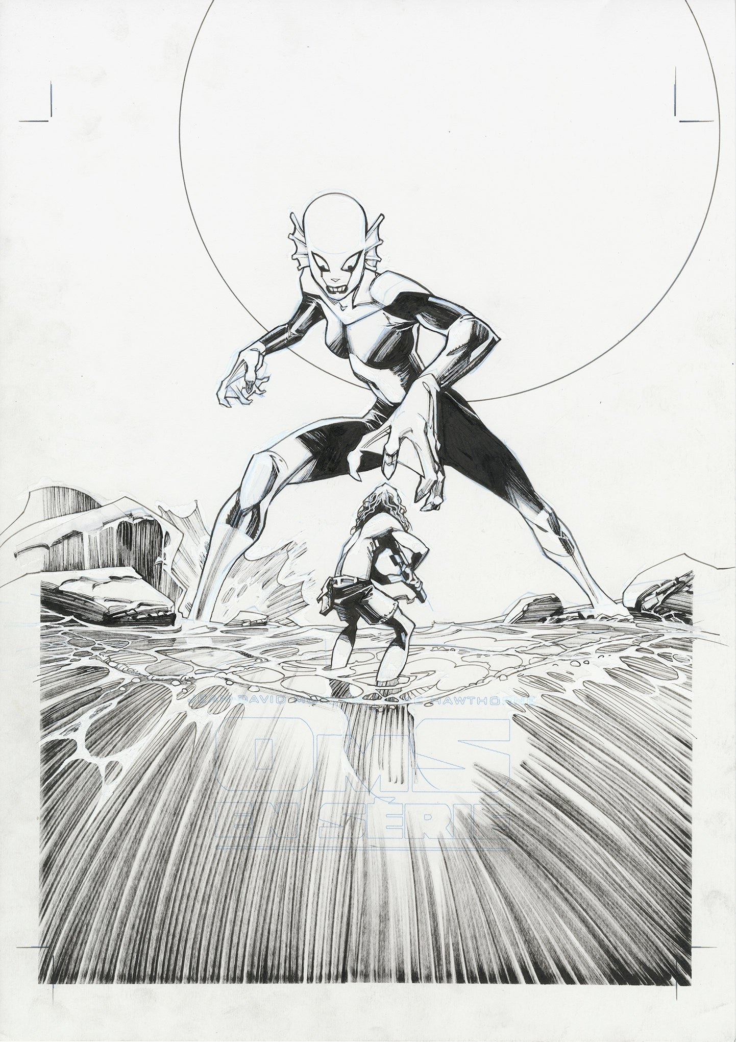 Olivier Vatine Original Art OMS Box Collecting Cover