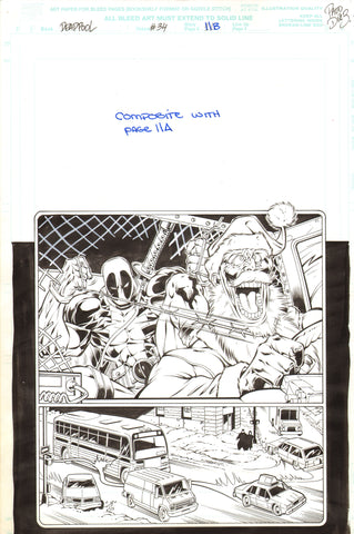 Paco Diaz Original Art Deadpool #34 Page 11