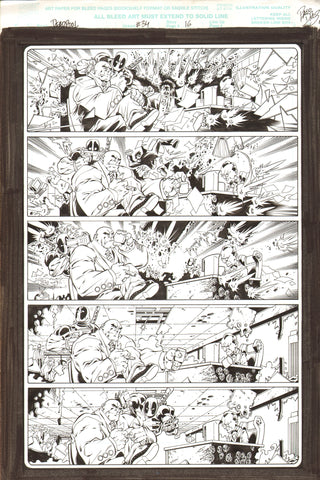 Paco Diaz Original Art Deadpool #34 Page 16
