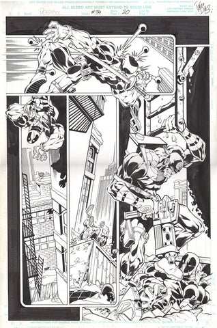 Paco Diaz Original Art Deadpool #34 Page 20