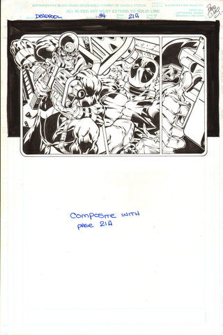 Paco Diaz Original Art Deadpool #34 Page 21