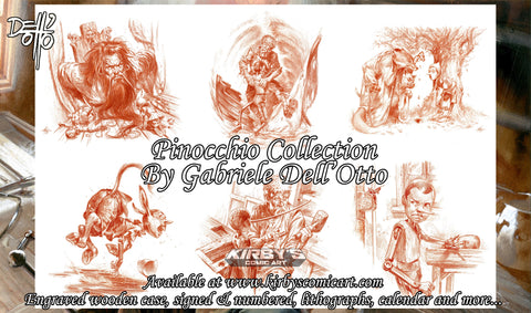 Pinocchio Collection Christmas Special by Gabriele Dell'Otto + Original Art Lottery (See Details)