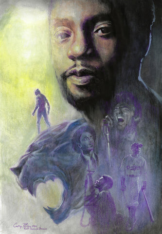 Casey Parsons Chadwick Boseman Tribute St. Jude's Charity Limited Edition Giclee