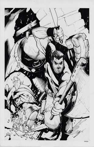 Gerardo Sandoval Original Art Punisher: Kill Krew #3 Cover