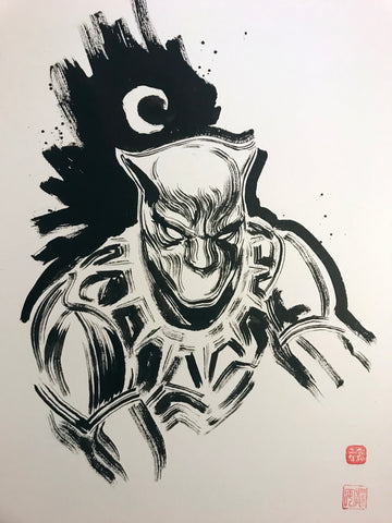 David Mack Original Art Black Panther Brush & Ink