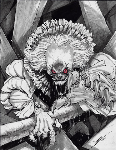 Gerardo Sandoval Original Art Pennywise Fan Art Challenge Illustration