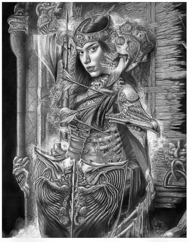 Pepe Valencia Original Art 'Perpetual' Graphite Illustration