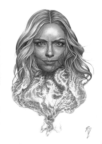 Pepe Valencia Original Art Phoenix Portraits Collection Illustration