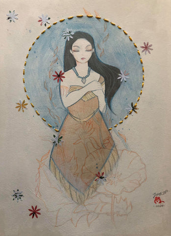 Zu Orzu Original Art Whimsical Pocahontas