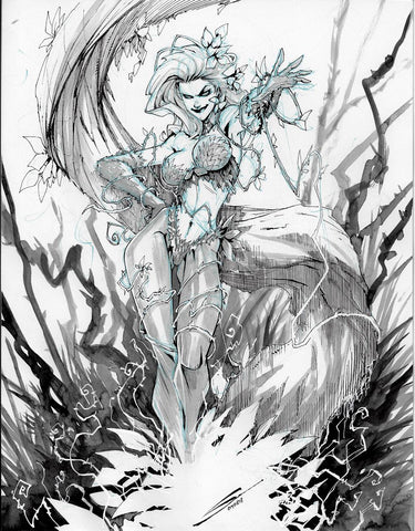 Gerardo Sandoval Original Art Poison Ivy Illustration