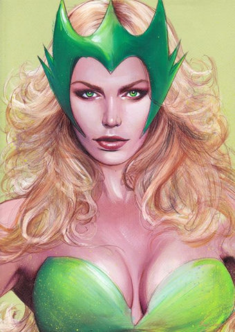 Fred Ian Original Art Enchantress Detailed Oil Painted Sketch
