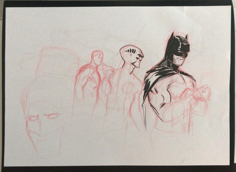 Javier Fernandez Original Art Justice League Prelim 1