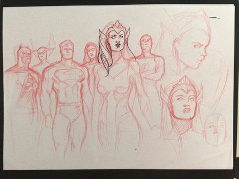 Javier Fernandez Original Art Justice League Prelim 5