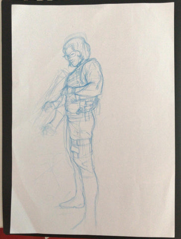 Javier Fernandez Original Art Winter Soldier Concept