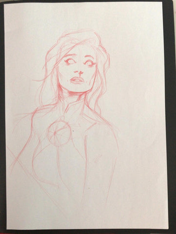 Javier Fernandez Original Art Martian Manhunter Prelim