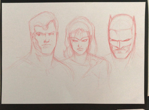 Javier Fernandez Original Art Justice League Prelim 4