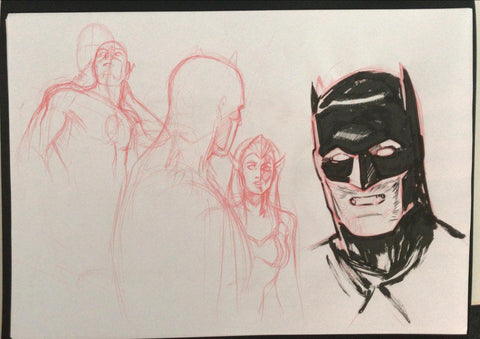Javier Fernandez Original Art Justice League Prelim 3
