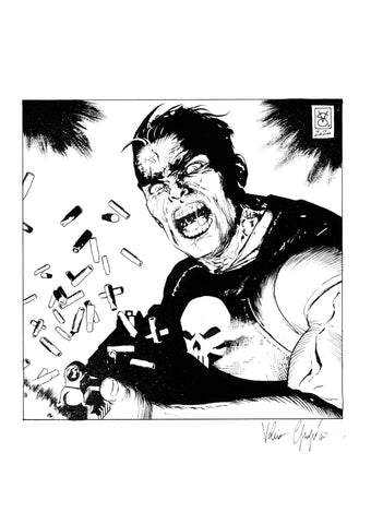 Valerio Giangiordano Original Art Punisher Illustration