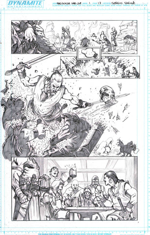 Sergio Davila Original Art Red Sonja: Birth of the She-Devil #1 Page 13