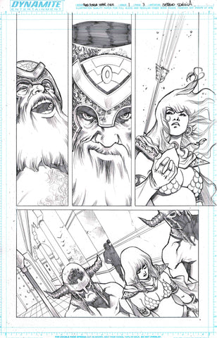 Sergio Davila Original Art Red Sonja: Birth of the She-Devil #1 Page 3