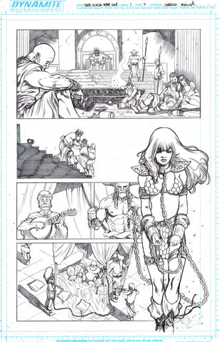 Sergio Davila Original Art Red Sonja: Birth of the She-Devil #1 Page 4