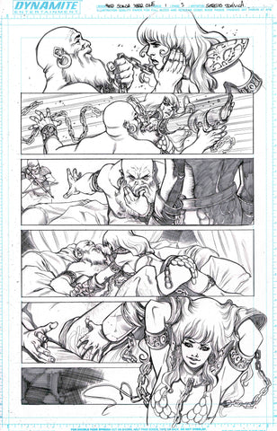 Sergio Davila Original Art Red Sonja: Birth of the She-Devil #1 Page 5