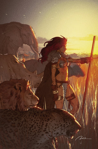 Red Sonja: Birth of the She-Devil #4 250 Limited Charity Virgin Cover by Gerald Parel