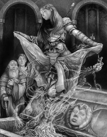 Pepe Valencia Original Art 'Resurgir' Graphite Illustration