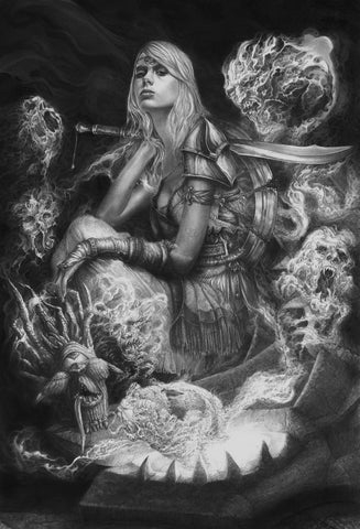 Pepe Valencia Original Art 'Ritual' Graphite Illustration