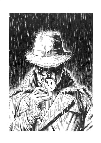 Riccardo Latina Original Art Rorschach Illustration
