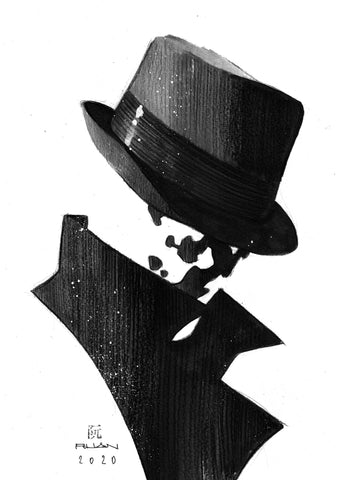 Dike Ruan Original Art *New Collection* Rorschach Illustration