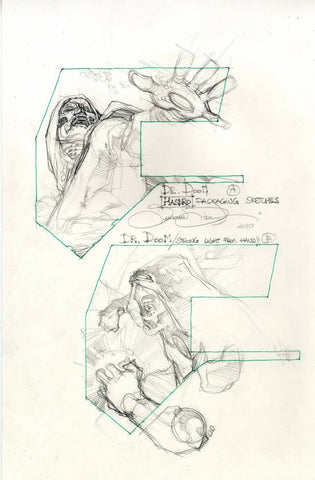 Simone Bianchi Original Art Doctor Doom Hasbro Toys Sketches