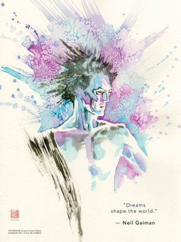 "David Mack & Neil Gaiman Neverwear.net Official Sandman 12x16"" Limited Edition Giclee"