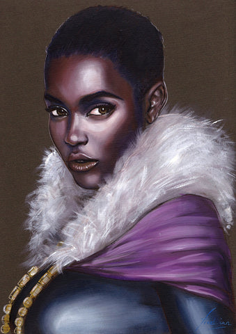 Fred Ian Original Art Shuri Oil Painted Illustration