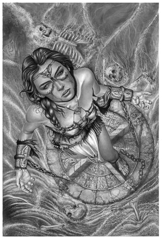 Pepe Valencia Original Art 'Sacrifice' Graphite Illustration