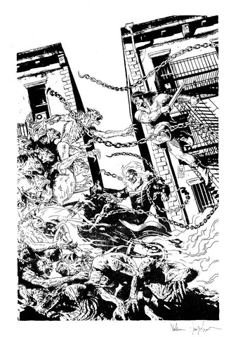 Valerio Giangiordano Original Art Savage Avengers #21 Cover