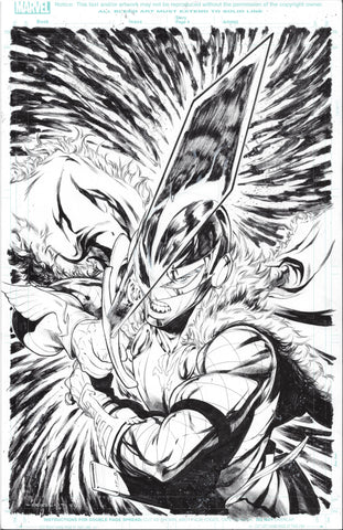 Iban Coello Original Art Black Knight #1 Cover