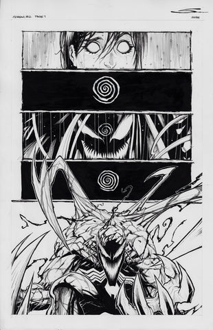 Gerardo Sandoval Original Art Absolute Carnage Scream #2 Page 1