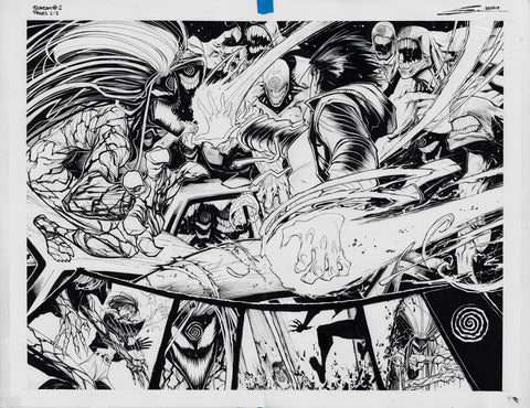 Gerardo Sandoval Original Art Absolute Carnage Scream #2 Double Page 2-3