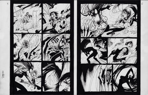 Gerardo Sandoval Original Art Absolute Carnage Scream #2 Page 5-6