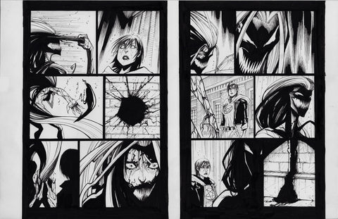 Gerardo Sandoval Original Art Absolute Carnage Scream #2 Page 7-8