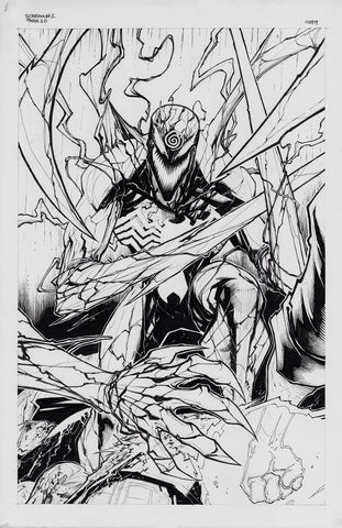 Gerardo Sandoval Original Art Absolute Carnage Scream #2 Cover & Page 20