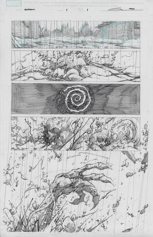 Gerardo Sandoval Original Art Absolute Carnage Scream #1 Page 1