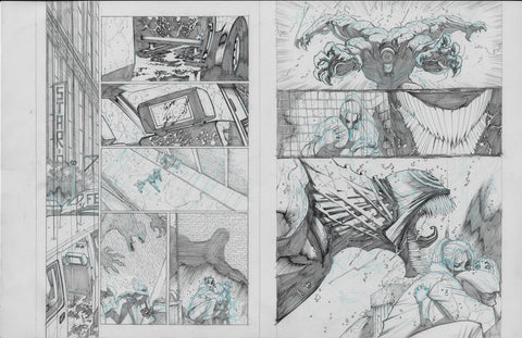 Gerardo Sandoval Original Art Absolute Carnage Scream #1 Page 3-4