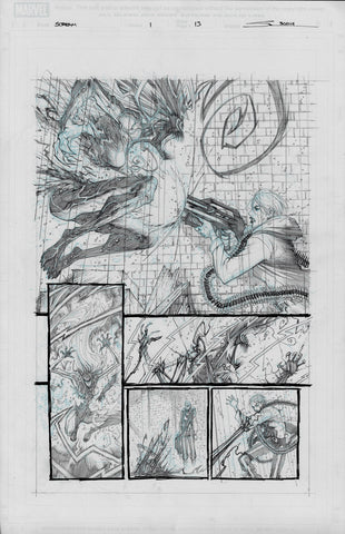 Gerardo Sandoval Original Art Absolute Carnage Scream #1 Page 13