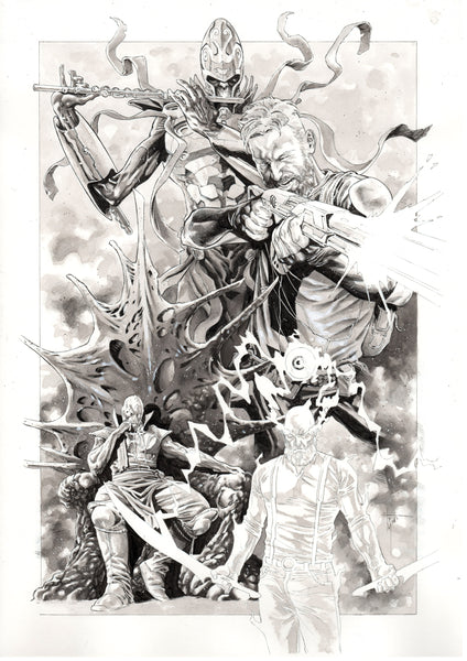 Francesco Mobili Original Art Seven to Eternity Illustration