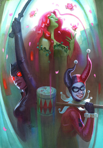 Clara Tessier Original Art Gotham City Sirens Illustration
